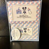 Walt Disney World Baby Memories Set Photo Album Cards Journal Notebook Pink Blue