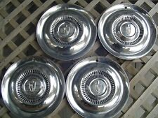 VINTAGE 1954 1955 LINCOLN MARK CONTINENTAL PREMIER TOWN CAR HUBCAPS WHEEL COVERS