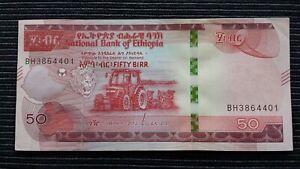 ETHIOPIA 50 Birr 2020 P New aUNC Banknote
