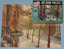 """VINTAGE WHITMAN GUILD PICTURE PUZZLE JIGSAW """"QUIET CITY"""" MACHINE CUT 304 pcs CIB"""