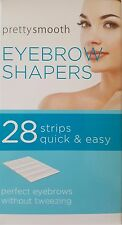 pretty smooth eyebrow shapers 28 wax strips unwanted hair, quick & easy removal