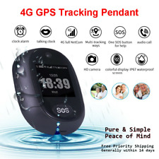 4G Personal Real Time GPS Tracker Kids Elderly Waterproof Portable SOS Button