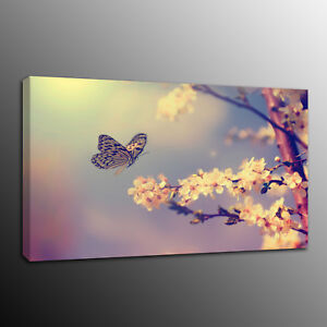 Landscape Canvas Prints Painting Wall Art Flower butterfly Home Decor No Frame