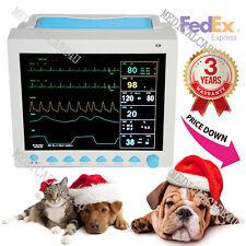 CE,Veterinary/Animal ICU Patient Monitor+6 Parameters ECG/NIBP/SPO2/RESP/TEMP/PR