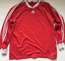 Adidas T Shirt Vtg Retro Men s Red Football Goalkeeper Style 4527d418d