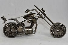Handmade Scrap Metal Motorcycle Shop Art Statue Model Harley Bike Novica AGWF