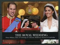 Papua New Guinea 2011 MNH Royal Wedding Prince William Kate 1v SS Royalty Stamps