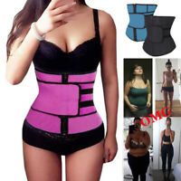 Hot Sweat For Weight Loss Waist Trainer Trimmer Belt Slimming Band Body Shaper