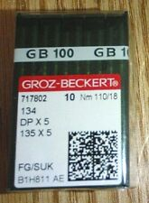 100 SIZE 130//21 GROZ BECKERT 16X257 16X231 DBX1 SEWING MACHINE NEEDLES A125