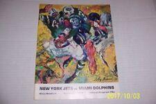 1967 NEW YORK JETS vs MIAMI DOLPHINS Program JOE NAMATH Bob GRIESE Maynard AFL