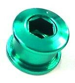 Set of Single Speed Track Fixie Fixy Chainring Bolts (5) Stud Anodized GREEN
