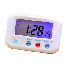 Mini Digital Car Auto Dashboard Clock Battery Powered Travel Clock White