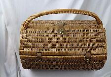 Picnic Time Wicker Picnic Basket w/Supplies, Wine Glasses, Utensils, ETC...