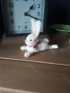 Handmade Ooak Needle Felted Rabbit doll teddy animal miniature
