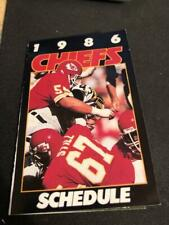 1986 Kansas City Chiefs Football Pocket Schedule Army Version