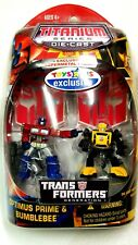 "BUMBLEBEE & OPTIMUS PRIME TRU TRANSFORMERS G1 Toys ""R"" Us EXCLUSIVE 2-Pack 2007"