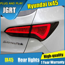 For Hyundai Santa Fe Sport Dark / Red Rear Lights Assembly LED Tail Lamps 14-16