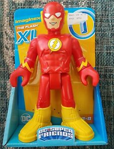 "Flash XL Imaginext DC Super Friends Figure 10"" Inch New Fisher Price"