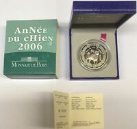 EUROPA QUARTER 2006 FRANCE  EURO SILVER CHINESE YEAR OF THE DOG