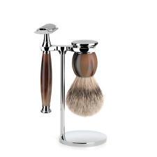 Muhle SOPHIST Real Horn Safety Razor & Silvertip Badger Hair Shaving Brush Set
