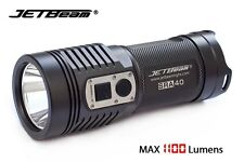 New Jetbeam SRA40 Cree XP-L 1100 Lumens LED Flashlight with Charger ( AA, 2A )