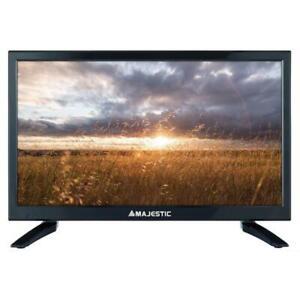 "Combo Tv Televisore 24"" MAJESTIC 12V HD DVBT2 12Volt Camper CAMIO AUTO BARCA"