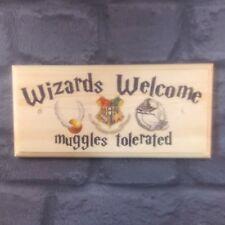 Magos bienvenida Placa / Cartel / Regalo-Harry Potter Dormitorio los muggles Puerta 316