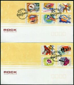 Rock Australia 2001 P & S Set of 2 FDC First Day Cover