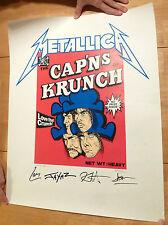 CAP'NS OF KRUNCH Metallica Poster Metalliclub Fan Club Mark DeVito #3685