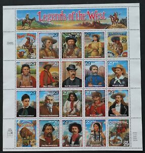 U.S. Used #2869 29c Legends of the West Sheet of 20. CDS Cancel. Scarce!