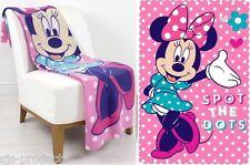 Disney Minnie Mouse Fleece Blanket Sofa Bed Throw Rug Pink 120x150cm Gift
