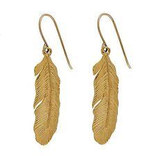 Dangle Feather Boho Earrings Long Earrings Pendant CHIC 14K Gold Filled