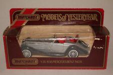 MATCHBOX MODELS OF YESTERYEAR #Y-20 1938 MERCEDES BENZ 540K, SILVER & BLACK