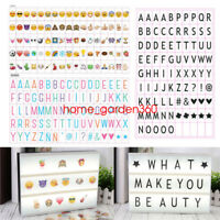 A4 Cinematic Light Up Emoji Letter Box Sign Lightbox DIY Christmas Party Decor
