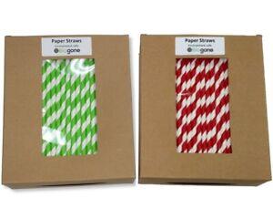 Paper Drinking Straws 250 Biodegradable Bulk Pack | 6mm Diameter by 190mm Length