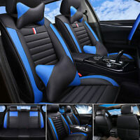 PU Leather Car Seat Covers Front & Rear Full Set for 5-Seats Cars Universal Fit