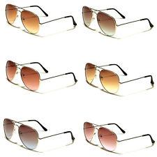 Pilot Anti-Reflective Metal Frame Sunglasses for Women