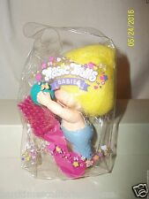 Troll Doll Applause Magic Troll Overalls Holding Ball in Air With Brush Is Pouch