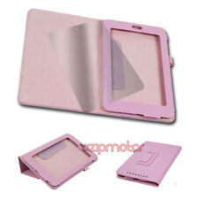 CASE COVER+SCREEN PROTECTOR MAGNETIC POUCH PU LEATHER PINK GOOGLE ASUS NEXUS 7""