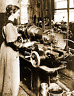 "1918 Woman Working on a Milling Machine, MA Vintage Old Photo 8.5"" x 11"" Reprint"