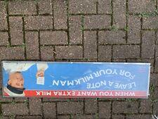 More details for lovely rare vintage unigate milk float name board sign milk bottles. milk float
