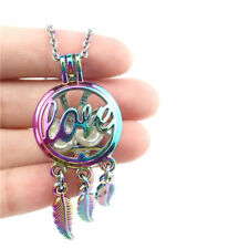 """C790 Rainbow Colorful Words LOVE Dream Catcher Stainless Necklace 20"""""""