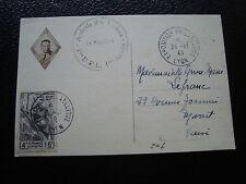 FRANCE - carte 24/11/1946 (a la memoire du general diego brosset) (cy57) french