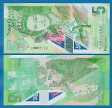 East Caribbean States 5 Dollars P New 2021 Polymer UNC Low Ship! Queen Elizabeth