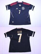 Youth Mexico #7 Aldo Leao YS Soccer Futbol Jersey (Black) Adidas ClimaCool