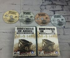 PC CD Rom Brothers in Arms Earned In Blood WWII World War 2 Game 2005 4 Discs