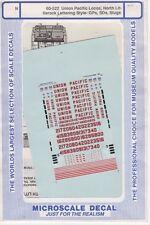 60-522 Union Pacific Locos, North Littlerock Lettering- GPs, SDs, Slugs