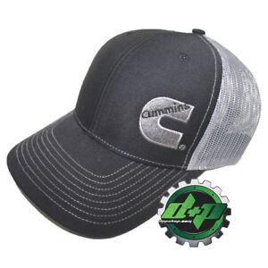 Dodge Cummins trucker hat richardson 112 black w/ gray summer mesh back snapback