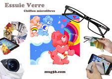 bisounours care bears 01-05 essuie verre chiffon microfibres lunettes, téléphone