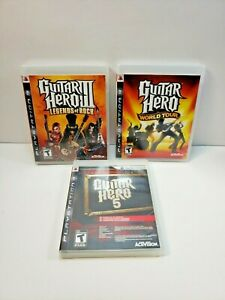 Guitar Hero Video Games for PlayStation 3 Lot of 3 Games All with Manual